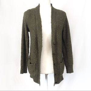 Forever21 Army Green Boucle Sweater/Cardigan